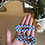 Thumbnail: purple and green checkered teardrop barrette duo
