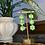 Thumbnail: green gingham triple flowers