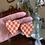 Thumbnail: burnt orange and ochre checkered hearts