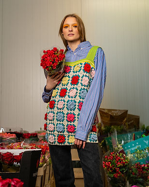 Floral Crochet Vest