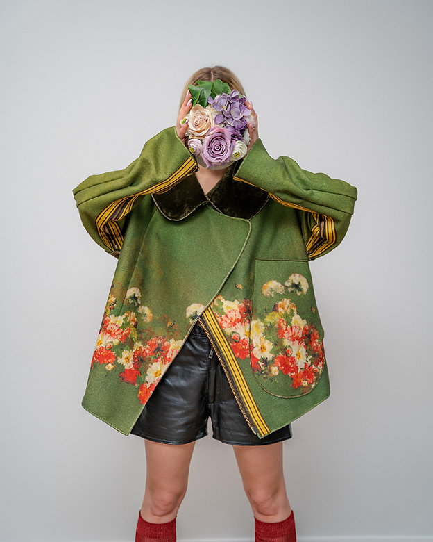 s385 � Sustainable Fashion-Žalias švarka