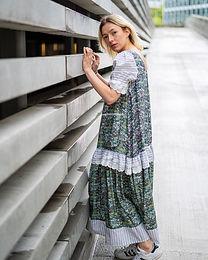 Flamingo print cotton dress