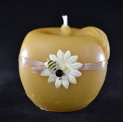 "by Design, ""Apple"" ball candle"
