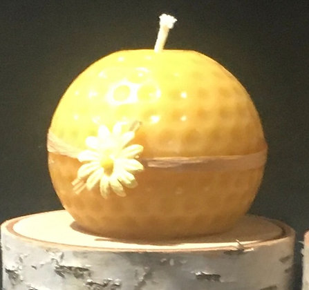 Golf ball candle