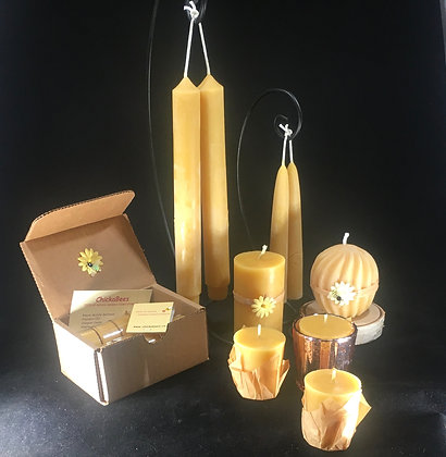Beeswax candle gift set