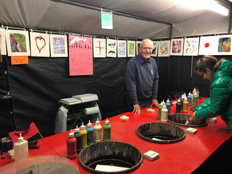 Spin Art stall