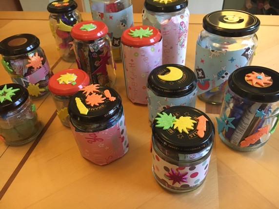 Summer Fair treasure jars