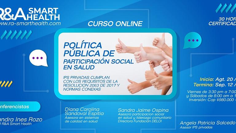 Taller Política de Participación Social en Salud en Colombia-Aspectos prácticos Implementación