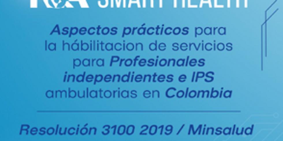 Webinar  habilitación profesionales independientes e IPS ambulatorias