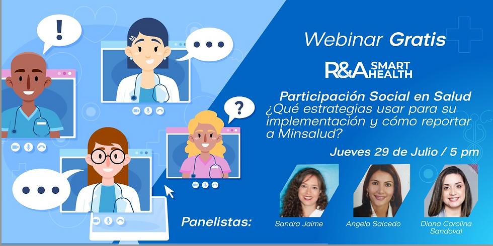 Participación Social en Salud:¿Qué estrategias usar para su implementación y cómo reportar a Minsalud?