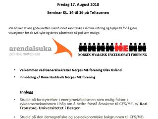 Velkommen til foredrag på Arendalsuka!