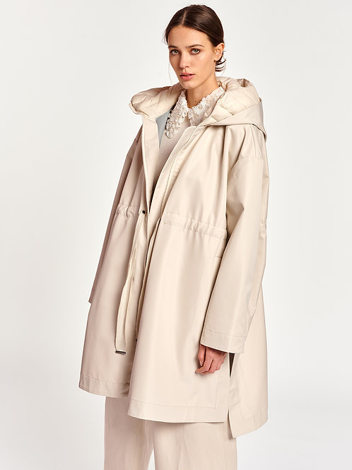 Essentiel Antwerp Manteau imperméable couleur crème