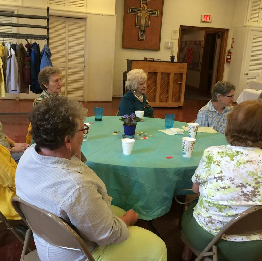 Volunteers Front Table