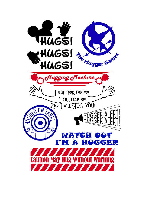 Hug Lovers Craft Pack for Hobbyists svg jpg gif pdf ep