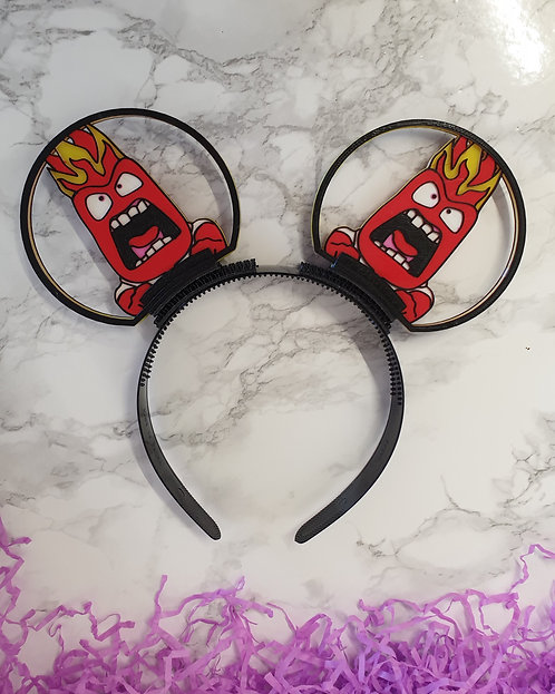 Disney Ears, Inside Outs Anger. The flame red machine!