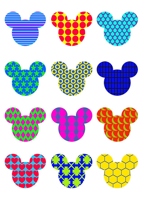 Mickey Bauble Design Pack for Crafters,  Hobbyists svg jpg gif pdf e