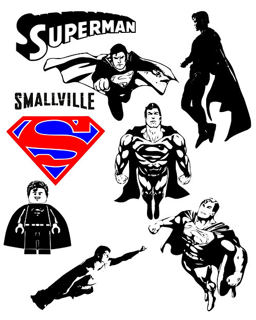 Superman Design Pack for Crafters,  Hobbyists svg jpg gif pdf eps