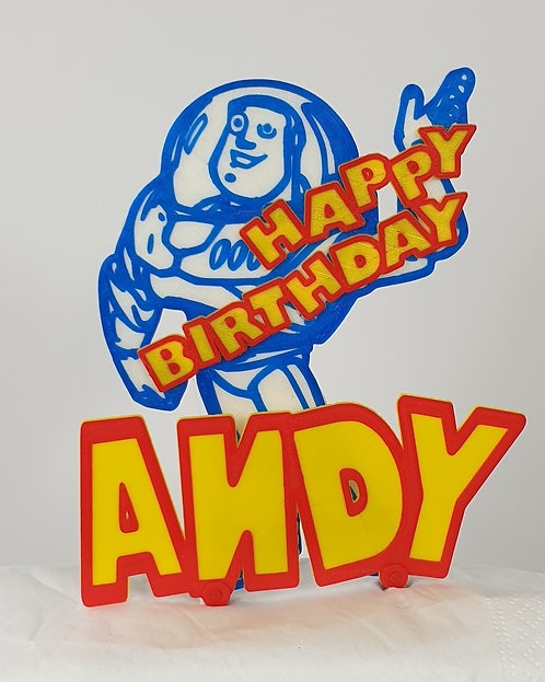 Cake Topper. Personalise Your Buzz Lightyear Birthday Cake