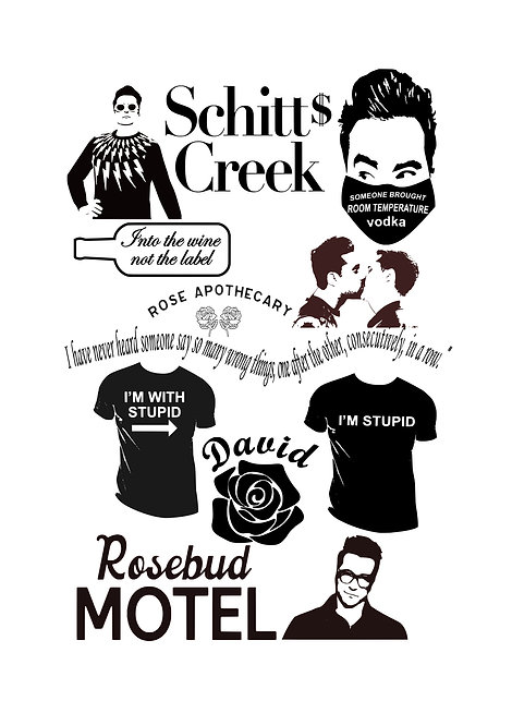 Schitts Creek David Design Pack for Crafters,  Hobbyists svg jpg gif pdf etc