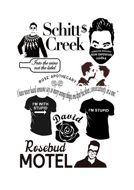 Schitts Creek David Craft Pack for Hobbyists svg jpg gif pdf etc