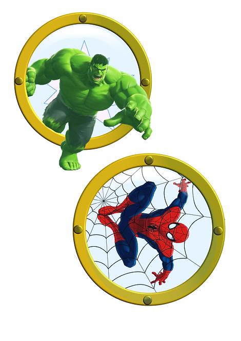 Free Download Hulk Spiderman Cruise Door Magnet