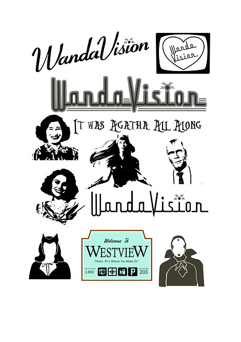 WandaVision Design Pack for Crafters,  Hobbyists svg jpg gif pdf ep