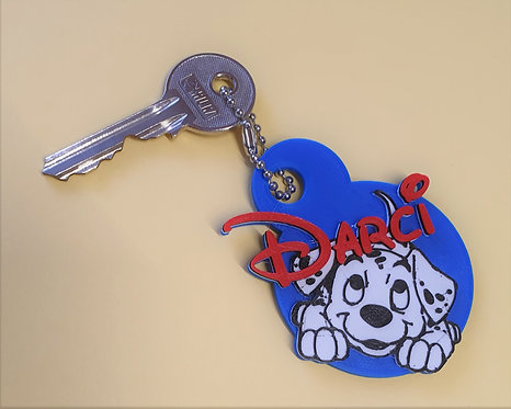 Disney 101 Dalmatians,  Pup Keyring or Bag Tag
