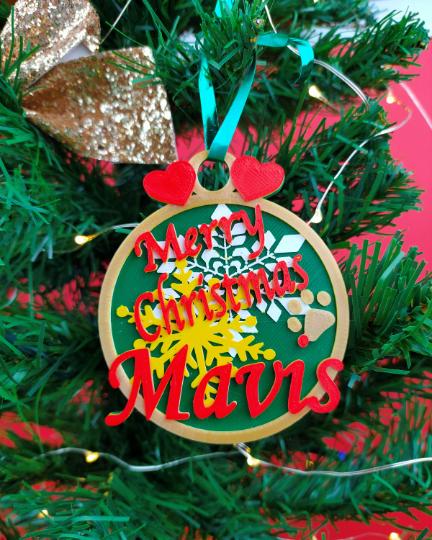 Santa is Coming, Personalised Christmas Tree Hanger