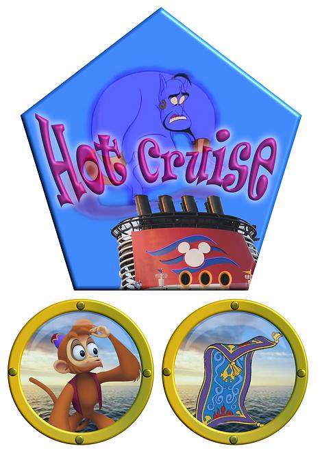 Free Download Aladdin Genie Cruise Door Magnet