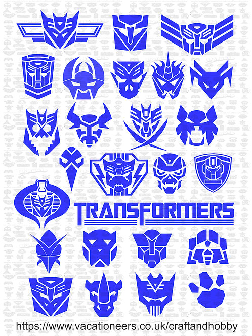 Transformers Craft Pack for Hobbyists svg jpg gif pdf eps