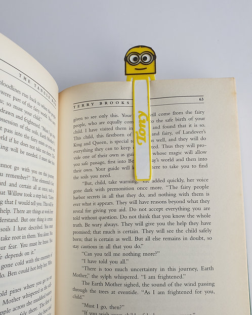 Personalised, MINION, Book Markers, Set of three