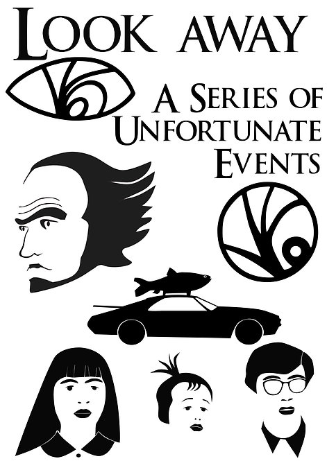 Unfortunate Events Pack for Crafters and Hobbyists svg jpg gif png dxf pdf eps
