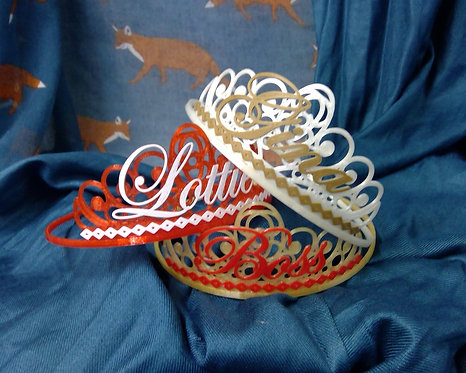 Personalised Classic Style Tiara To Suit Any Occassion, Birthday, He