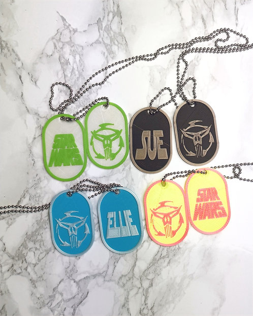 Disney Star Wars Dog Tag, Neo Crusader, Feel the Force