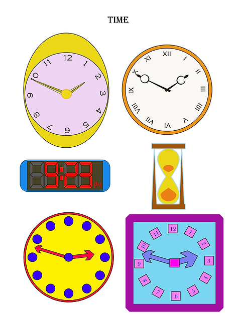 Clocks Design Pack A for Crafters and Hobbyists svg, jpg, gif, png, dxf. e