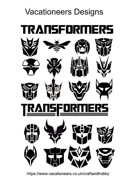 Transformers Design Pack for Crafters,  Hobbyists svg jpg gif pdf eps