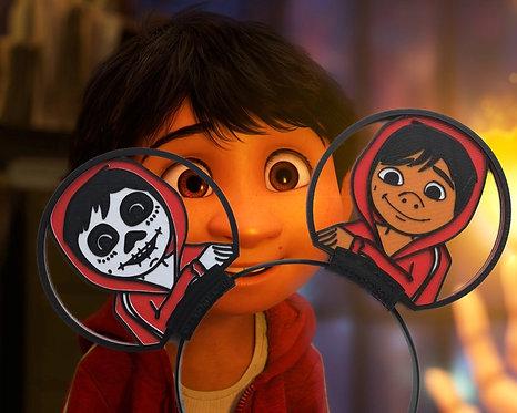 Disney Style Ears, Coco's Miguel Celebrates Dia de los Muertos.