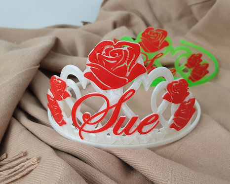 Personalised Rose Style Tiara To Suit Any Occassion, Birthday, Hen Nig