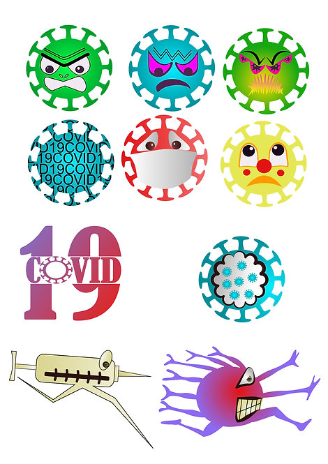 Covid 19 Design Pack for Crafters,  Hobbyists svg jpg gif pdf epsetc