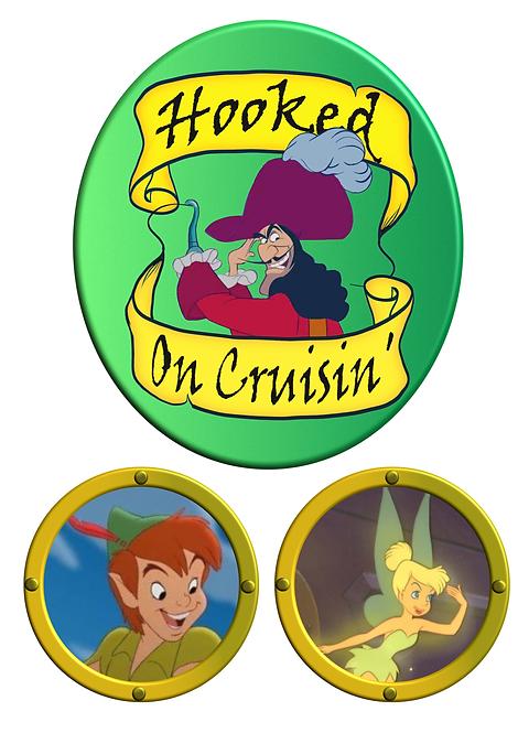 Free Download Hook Peter Pan and Tinkerbell Cruise Door Magnet