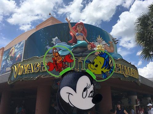 Disney Ears, Sebastian and Flounder. It's Better Down Where it's Wetter.