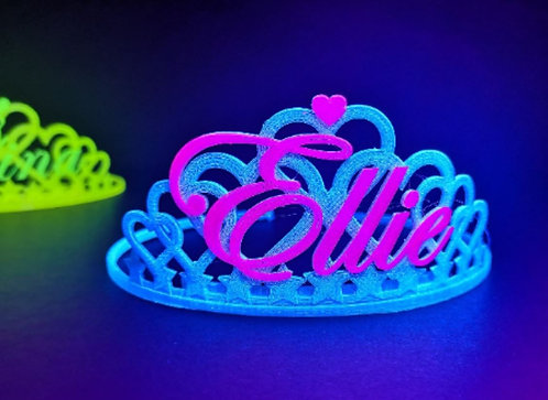 Personalised UV Hearts Style Tiara To Suit Any Occassion, Birthday, Hen Night