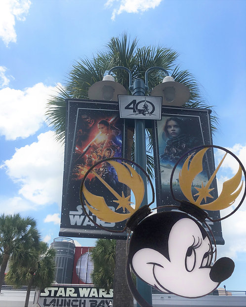 Disney Ears with a Star Wars, JEDI ORDER Theme.