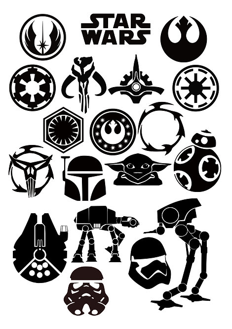Starwars Craft Pack for Hobbyists svg jpg gif pdf eps