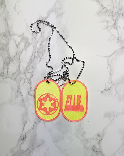 Disney Star Wars Dog Tag, Galactice Empire, Feel the Force