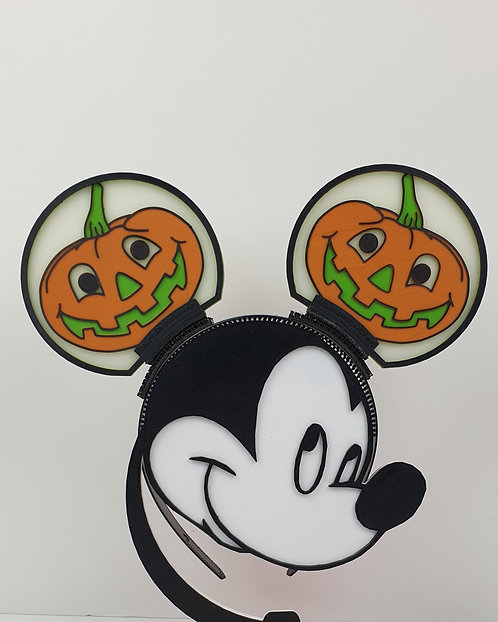 Disney Ears, Smiling Pumpkin. Ideal for Horror Nights.