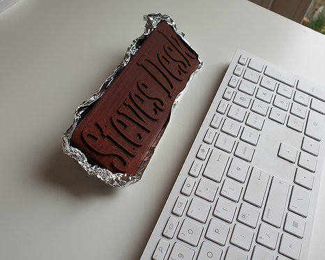 Chocolate Coloured Desk Plate, sorry but it's not real chocolate :(