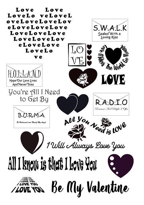 Love Valentines Craft Pack for Hobbyists svg jpg gif pdf