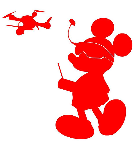 FPV Mickey for Crafters and Hobbyists svg, jpg, gif, png, dxf, eps
