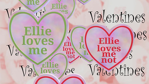 Personalised Valentines Day, Digital Message